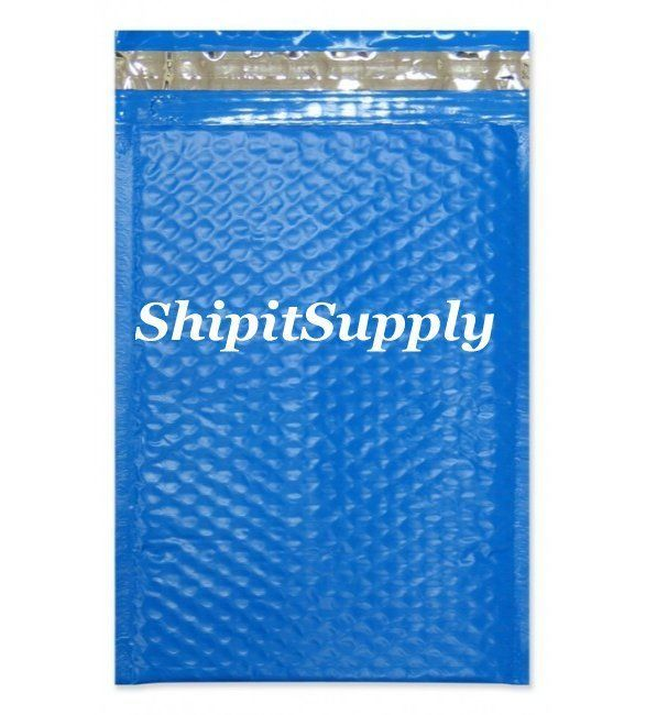 1-500 #000 4x8 Poly ( Blue ) Color Bubble Padded Bubble Envelopes Mailers