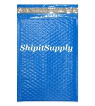 1-500 #000 4x8 Poly ( Blue ) Color Bubble Padded Bubble Envelopes Mailers - $0.98+