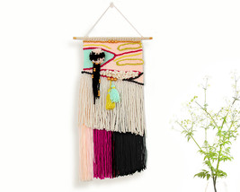 Weave wall hanging, Wall decor, Weaving, Tapest... - $85.00