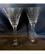 Pair of Towle Crystal RIVIERA Wine Glasses - $15.99