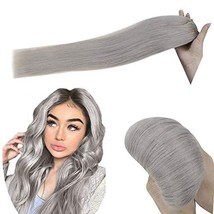[10% Off] Hetto One Piece Clip in Hair Extensions for Woman #Silver 100 Remy Hum