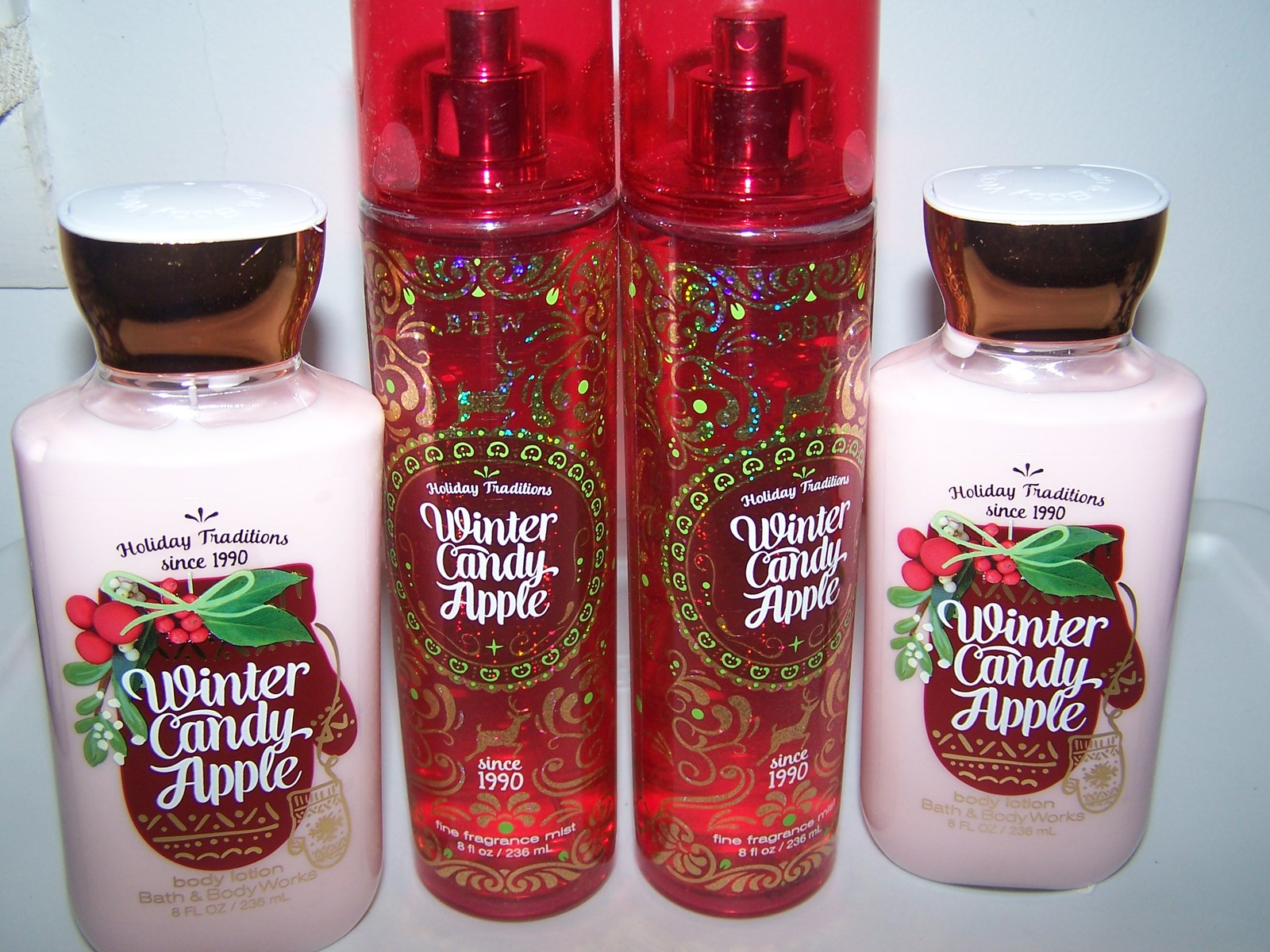 4 pc bath body works winter candy apple set body lotion for Bath and body works scents best seller
