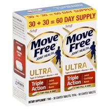 Move Free Ultra Triple Action Joint Supplement, Twin Pack (2x30) ct - $50.48