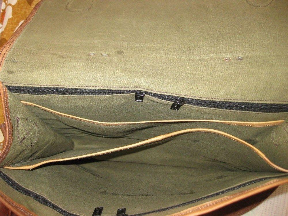 """Leather Messenger Bag 15"""" Vintage Brown Satchel Shoulder Laptop Briefcase Bag image 4"""