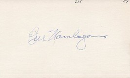 BILL WAMBSGANSS Signed index card, nice autograph - $21.78