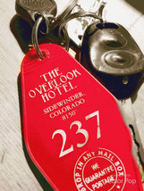 ON SALE! Overlook Hotel Keytag - RED keytag with white lettering - $5.99