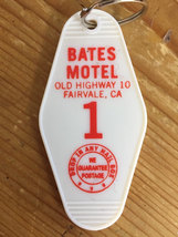 New! Red and Black printed  PSYCHO BATES motel room 1 keychain, key fob ... - $5.99