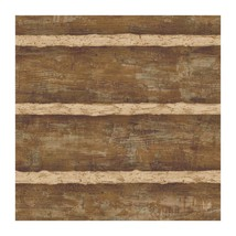 Walnut Brown Faux Log Cabin with Cream Grout Su... - $31.97