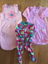 Baby Girls Pink Fleece Sleep Sacks 0 To 9 Months Carter's TCP Blanket Sl... - $24.74
