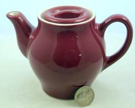 Vintage Hall China individual size teapot maroon restaurant ware - $15.00