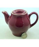 Vintage Hall China individual size teapot maroo... - $15.00