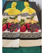 Handmade Crocheted Top Hanging Kitchen Towels W... - $10.99