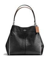 Coach Lexy Silver/Black Multi Pebble Leather Zi... - $499.99