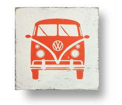 Vintage - Rustic Wooden Sign - The Iconic VW Bus - Approx 14 x 14 - Item... - $32.00