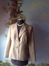 Le Suit Beige Long Sleeve Blazer Suit Jacket SZ 14 - $29.69