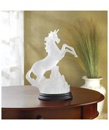 Mystical FROSTED UNICORN Light Statue - $33.19
