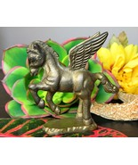 Vintage Pegasus Horse Wings Mythology Brass Fig... - $15.95