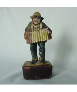 1939 PAINTED STATUE ACCORDION PLAYER HUNLETH MUSIC COMPANY - $22.00