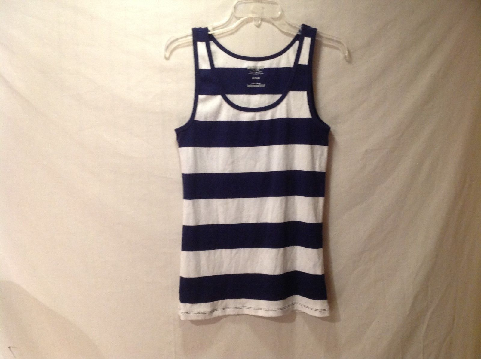 Old Navy White/blue Striped tank top