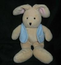 "9"" Vintage Carter's 55354 Brown Bunny Rabbit Rattle Stuffed Animal Plush Toy - $64.52"