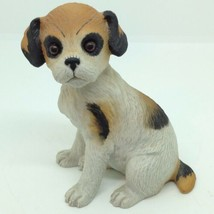 Vintage 1985 LEFTON FOX TERRIER PUPPY DOG FIGURINE 4 inch Tall Porcelain... - $14.02