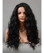 Wig for Black Women Long HEAT OK Curly Wavy Lac... - $43.49