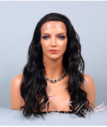 Lace Front Wig Delicate Long Wave OFF BLACK Wig... - $46.49