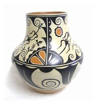 Santo Domingo Indian LRG Polychrome Vase Hand Built by Thomas Tenorio Ma... - $2,900.00