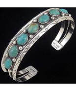Navajo Bracelet Sterling Silver Green Turquoise... - $279.00 - $309.00