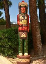 CIGAR STORE INDIAN 6' Red Shirt Buffalo Indian Chief w Knife Native F Ga... - $1,565.00