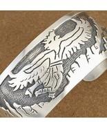 Mens XL Bracelet Southwestern Sterling Silver Eagle Dancer Kachina Cuff ... - $659.00