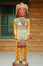 4' Cigar Store Wooden Indian Chief by Gallagher Native American Made in USA - $915.00