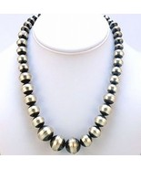 Navajo Graduated Native Pearl Beads Necklace St... - $559.00