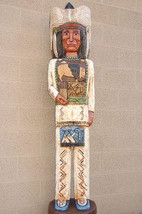 6' Cigar Store Wooden Indian Chief Sculpture by Frank Gallagher Native M... - $1,565.00