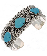 Navajo Sterling Silver Turquoise Cuff Bracelet ... - $499.00 - $589.00
