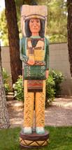 CIGAR STORE INDIAN 5' Chief Gallagher Dark Green Shirt Wooden Sculpture ... - $1,325.00