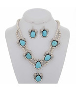Navajo Squash Blossom Necklace Earring Sterling... - $729.00
