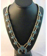 Turquoise Squash Blossom Necklace | Vintage Old... - $1,280.00
