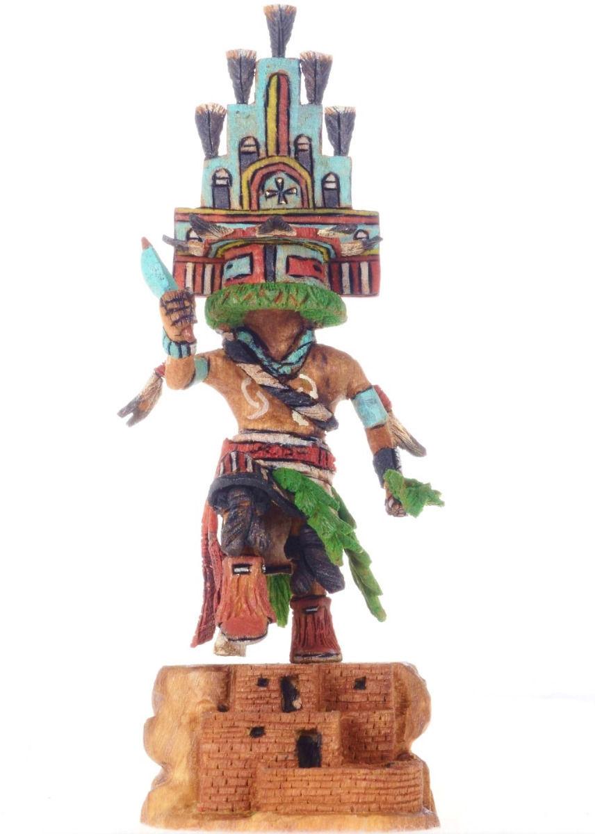 "Hopi Carved 7 7/8"" HEMIS Kachina Doll Katsina Sculpture by Milton Howard - $729.00"