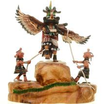 "Milton Howard, Hopi Mudheads & Eagle Kachina Doll Sculpture 8.5""-9"" Hand Carved - $1,329.00"