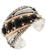 Navajo BIG BOY Black Onyx Row Bracelet Sterling... - $709.00 - $799.00