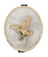 Southwestern Golden Eagle Stamped Silver Bolo T... - $189.00