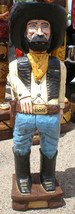 Gallagher 4' Cigar Store Indian OLD WEST COWBOY BOSS Hand Carved Sculpture - $915.00