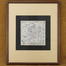 Vintage 80s Original Hand Sketched Drawing by Nez Perce Indian Chief Wat... - $1,299.00