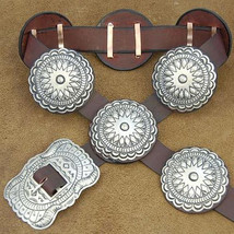 Navajo XLG Stamped Silver Mens Womens Concho Belt Native American Made i... - €643,05 EUR