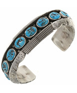 Native American Mens Turquoise Row Bracelet Hea... - $949.00 - $979.00
