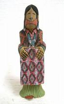 "Navajo 7"" Eye Dazzler Rug Weaver Kachina Doll Sculpture - Dan Yazzie Made In Usa - $250.00"