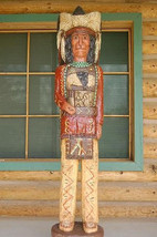 5' Cigar Store Wooden Indian Red Coat Chief Native Made in USA by F Gall... - $1,325.00