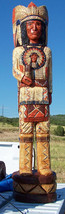 6' Cigar Store Indian Chief w Full Headdress Mandela Chest Plate 6 Ft Sc... - $1,900.00
