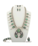 Navajo Sterling Silver DAMALE Turquoise SQUASH ... - $2,450.00